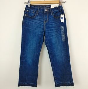 GAP KIDS| 10 Regular Straight Crop Mid Rise Jeans